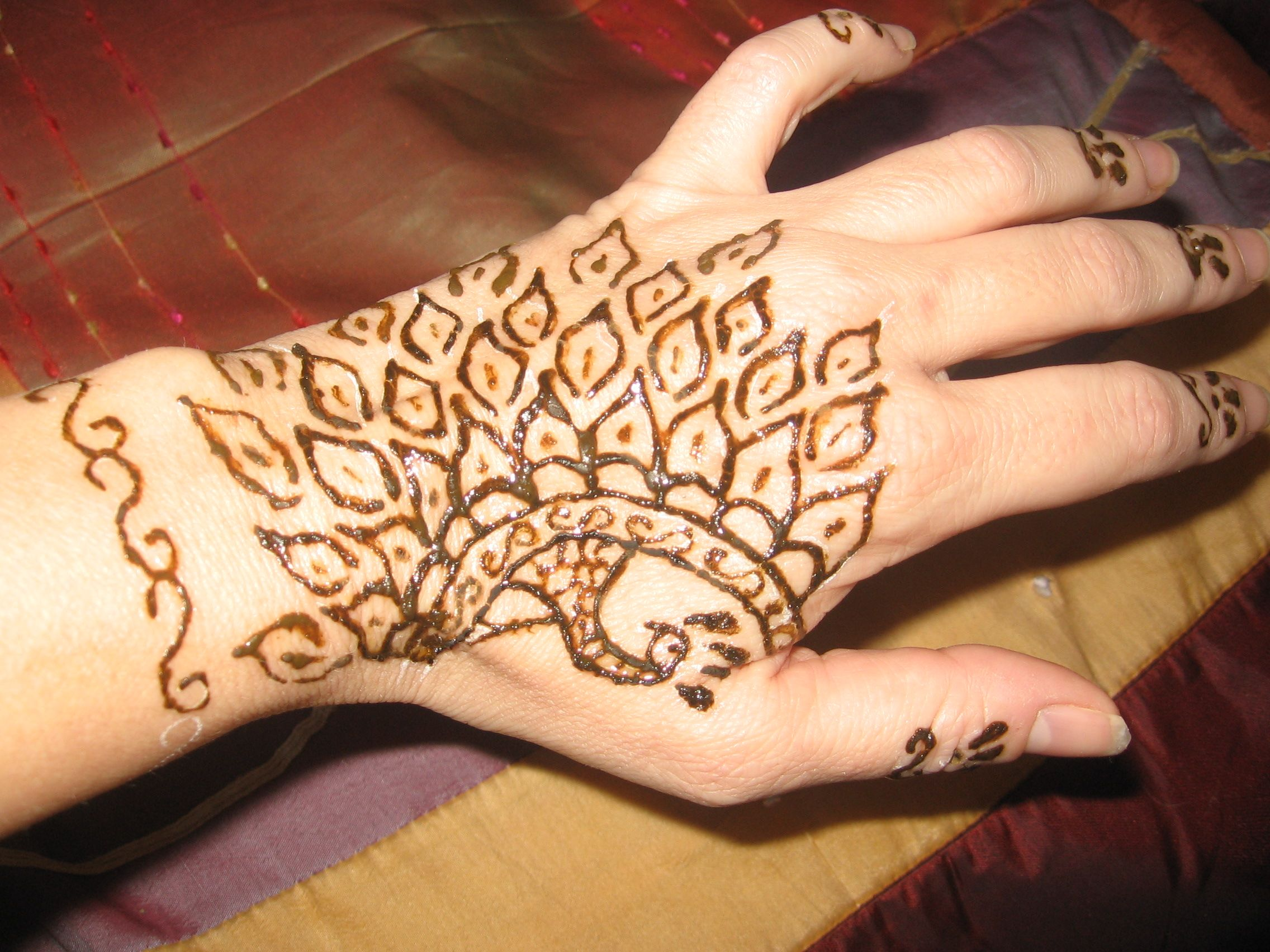 Mehndi Patterns For Small Hands : Small henna hand design designs all things mehndi