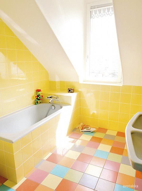 Yellow And Pink Bathroom. Remodeling Vintage Bathrooms Making The Best Of A Small Situation
