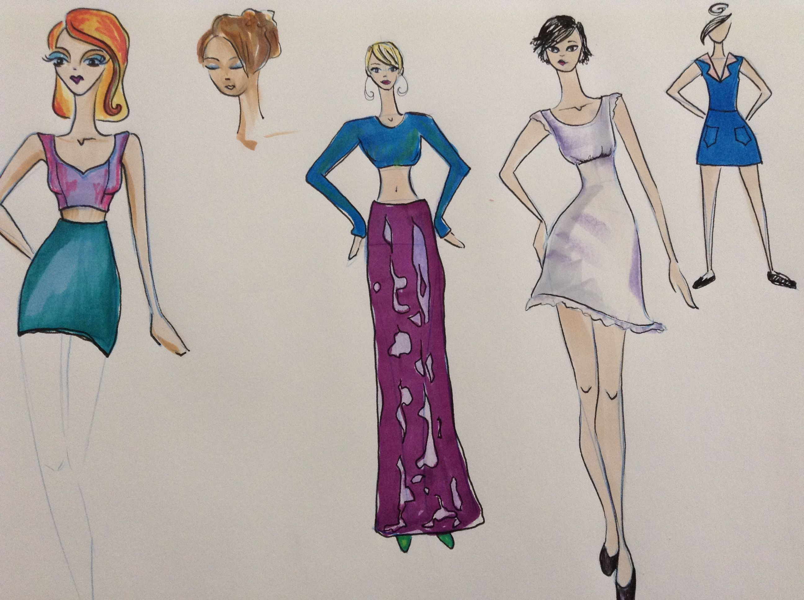 Sketches by Kelsey Lovelle.