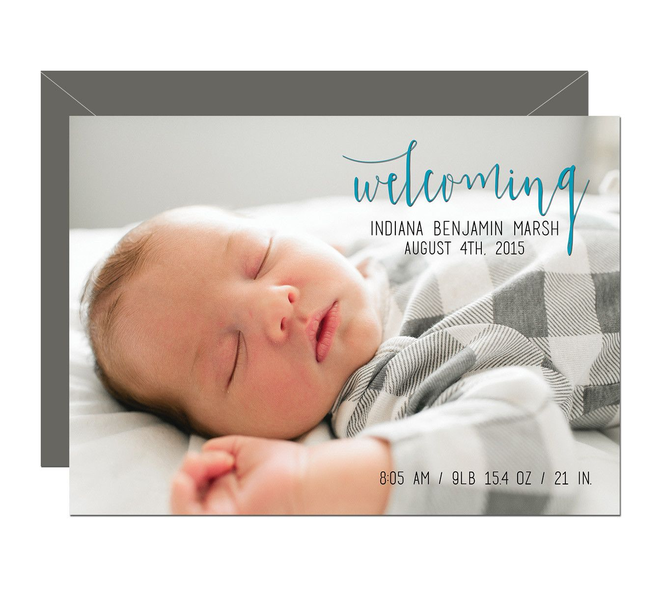 Birth Announcement - Script, handwritten, baby boy birth announcement, by Pike & Pine Paper. Browse our full selection of birth announcements online. #mypapergoodness
