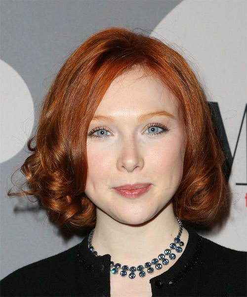 Molly C Quinn Medium Curly Formal Hairstyle | Curly, Bobs ...