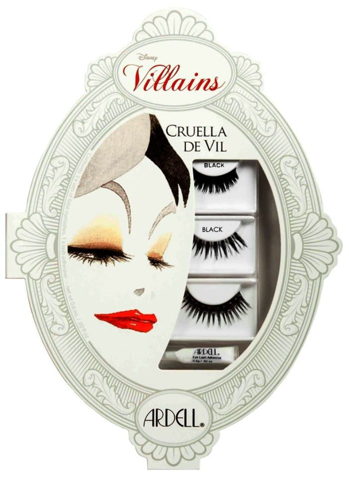 Ardell DISNEY VILLAINS Evil CRUELLA DE VIL False Eyelashes Day Night Makeup NIB! #Ardell