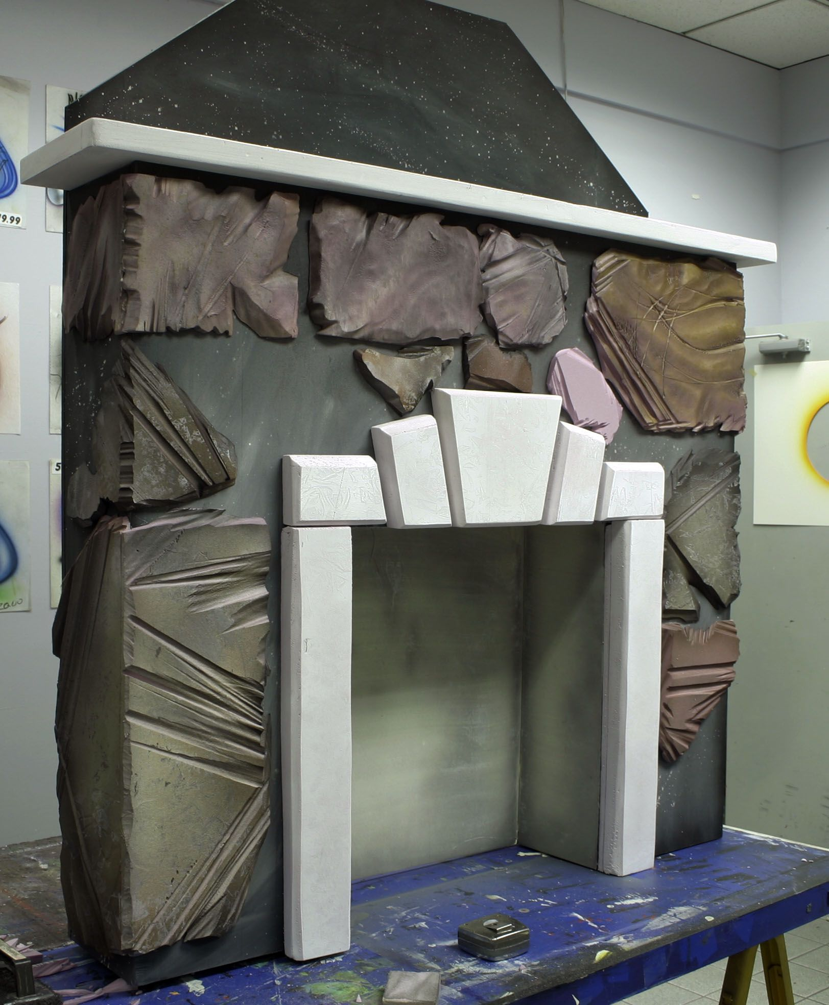 Styrofoam Fireplace Stage Prop. http://www.originalabstractart.net ...