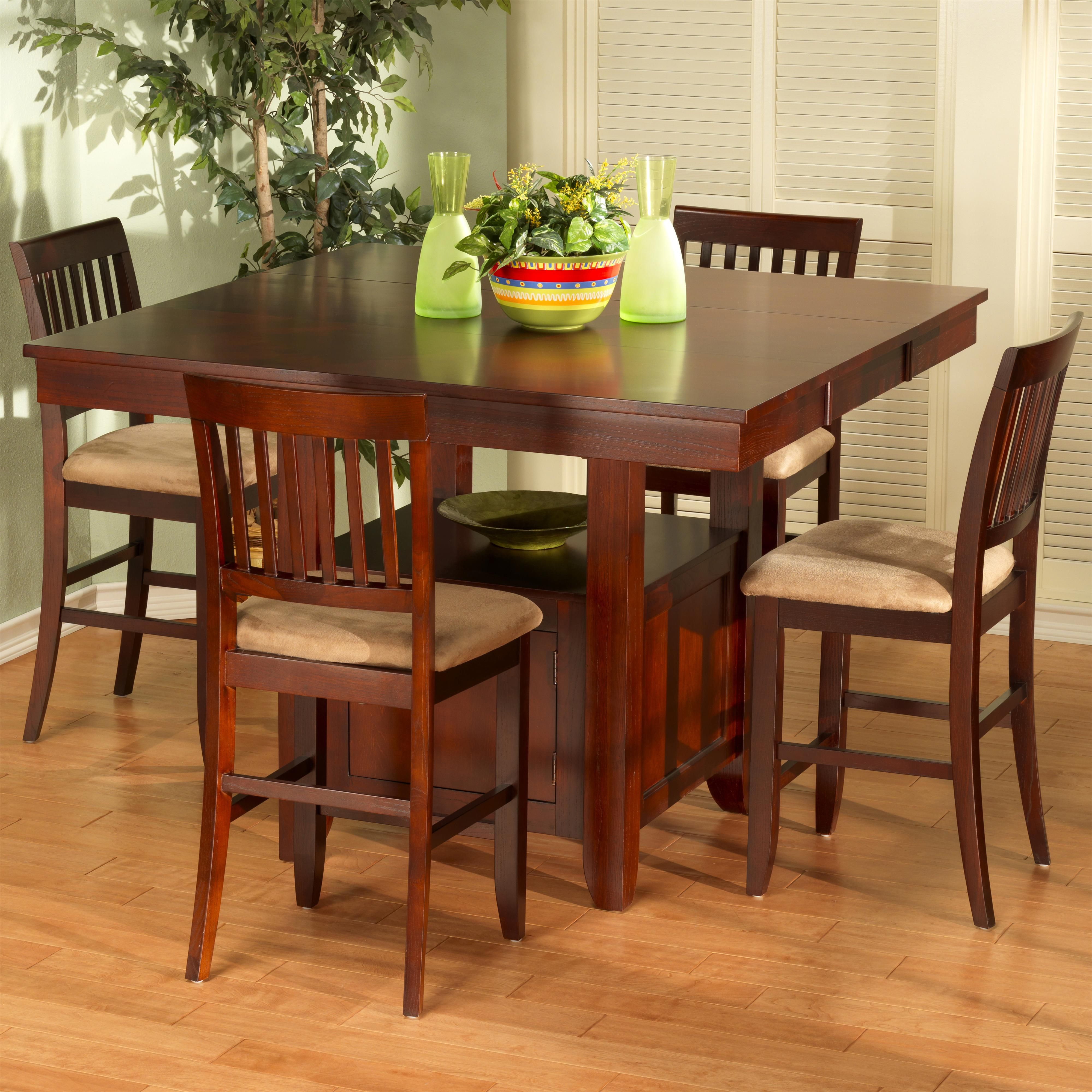 Counter Height Dining Set W Storage & Leaf  Counter Height Pleasing Pub Height Dining Room Table Inspiration