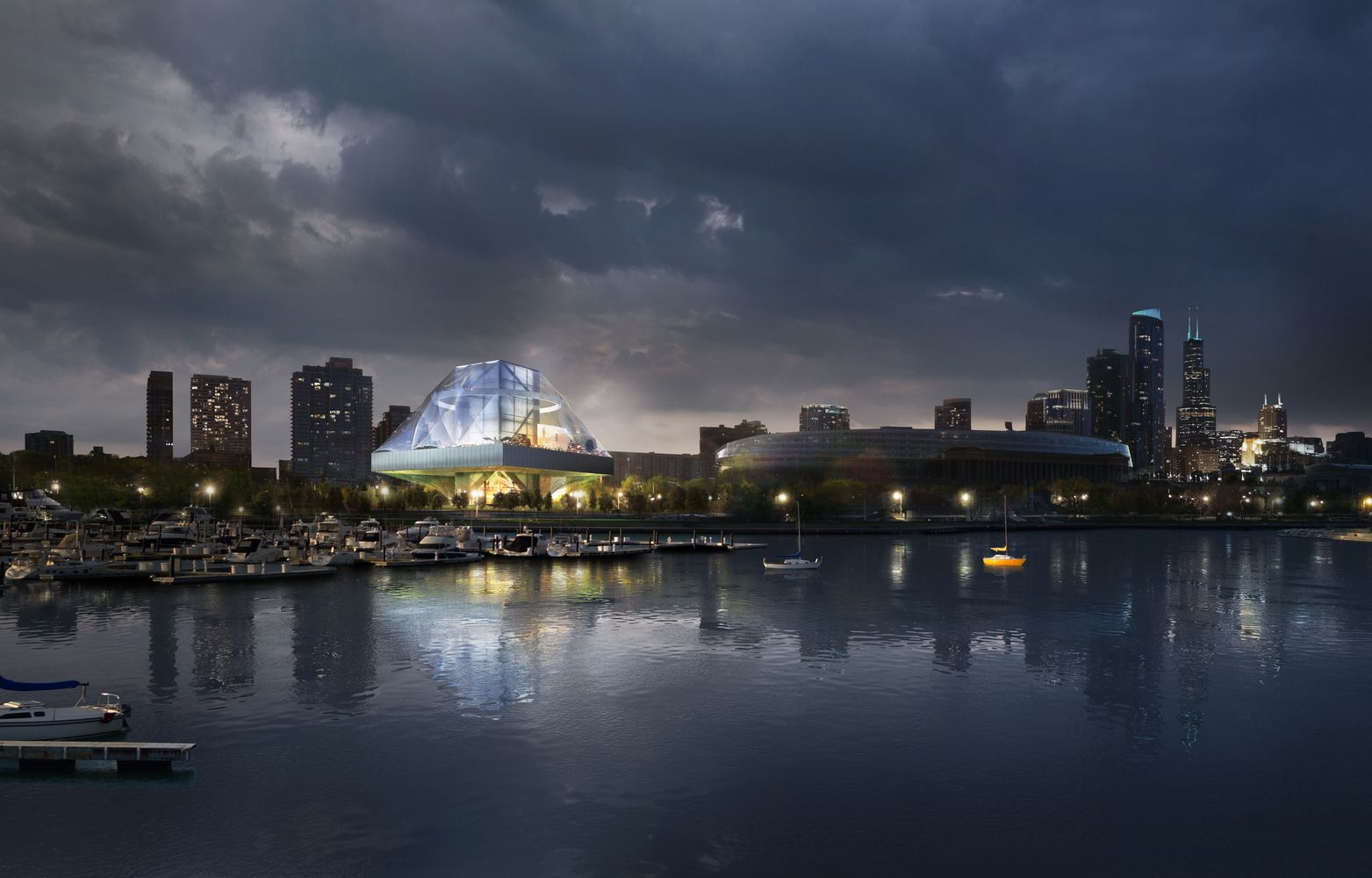 OMA Releases Images of Alternative Design for Lucas Museum,Courtesy of OMA New York