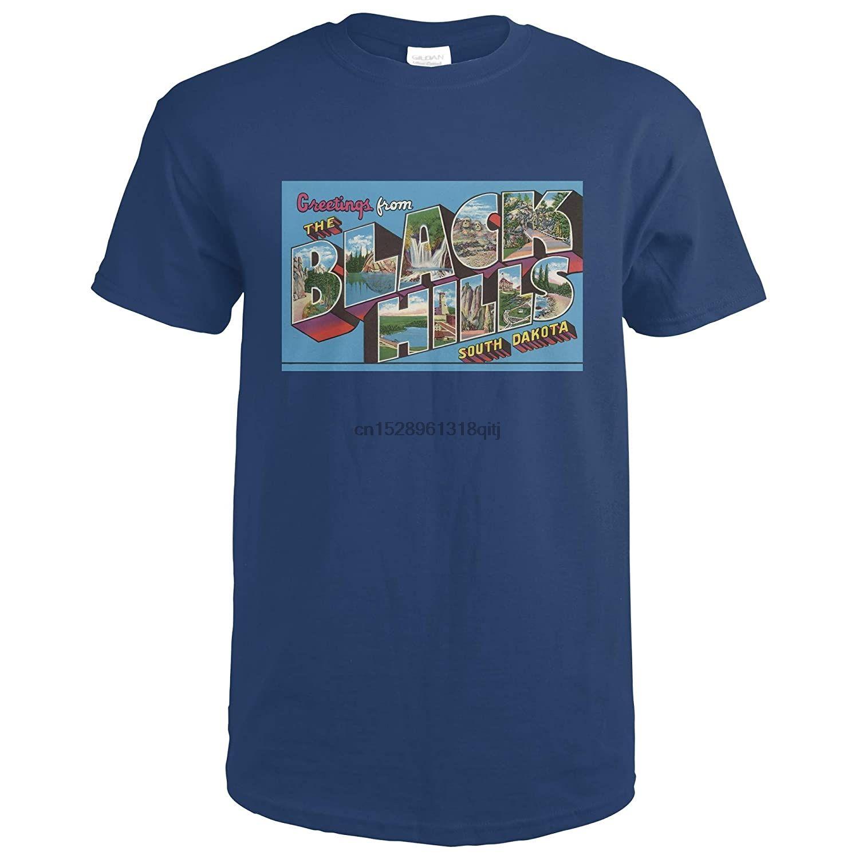The Black Hills South Dakota Large Letter Scenes Navy Blue Medium O Neck T Shirts O Neck Tshirt In 2020 Black Hills South Dakota Mens Tops Black [ 1500 x 1500 Pixel ]