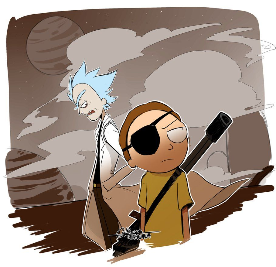 Evil Rick And Morty 2 By Rika Wawa With Images Rick And Morty