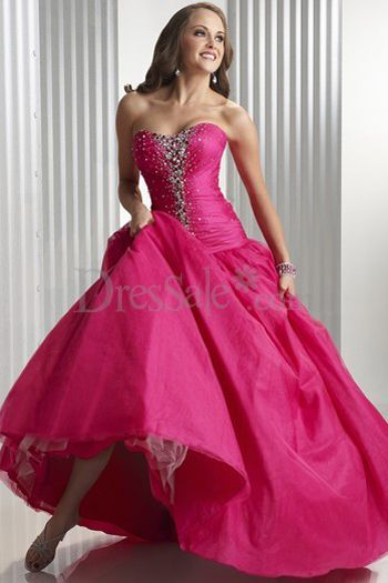 New Fashion Formal Dress in Pink with Corset Bodice and Ball gown