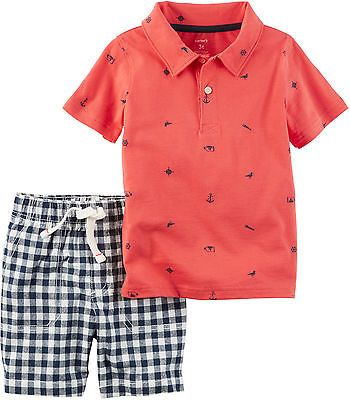 aa9b7c104 Outfits and Sets 156790: Carters Toddler Boys Nautical Polo Shorts Set ->  BUY IT NOW ONLY: $30 on eBay!
