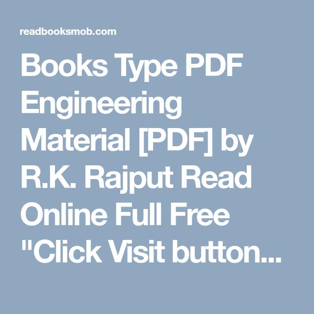 Books Type PDF Engineering Material [PDF] by R K  Rajput