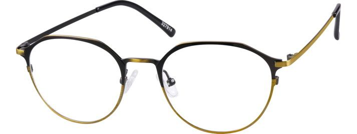 Gold Ocotillo Round Glasses #327914 | Zenni Optical Eyeglasses ...