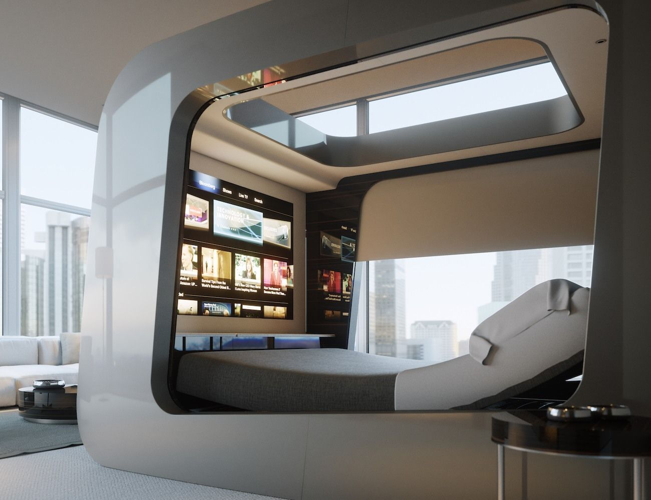 Hican Revolutionary Smart Bed Is Made For The Future Smart Home Design Futuristic Bedroom Home Technology