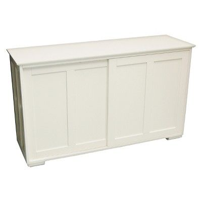 Pacific Stackable Sliding Wooden Doors Cabinet Off White
