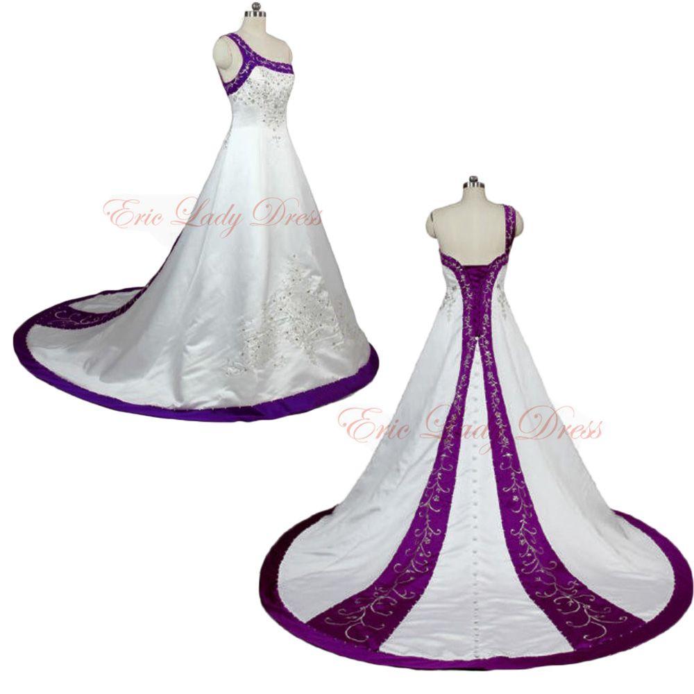2015 Wedding Dresses White And Purple Embroidery Wedding Dresses One Shoulder Wedding Dresss 2015 Satin Wedding Dresses Plus Size Wedding Dresses Beaded Sequin Purple Wedding Dress Wedding Dress Sequin Halter Wedding Dress [ 1000 x 1000 Pixel ]