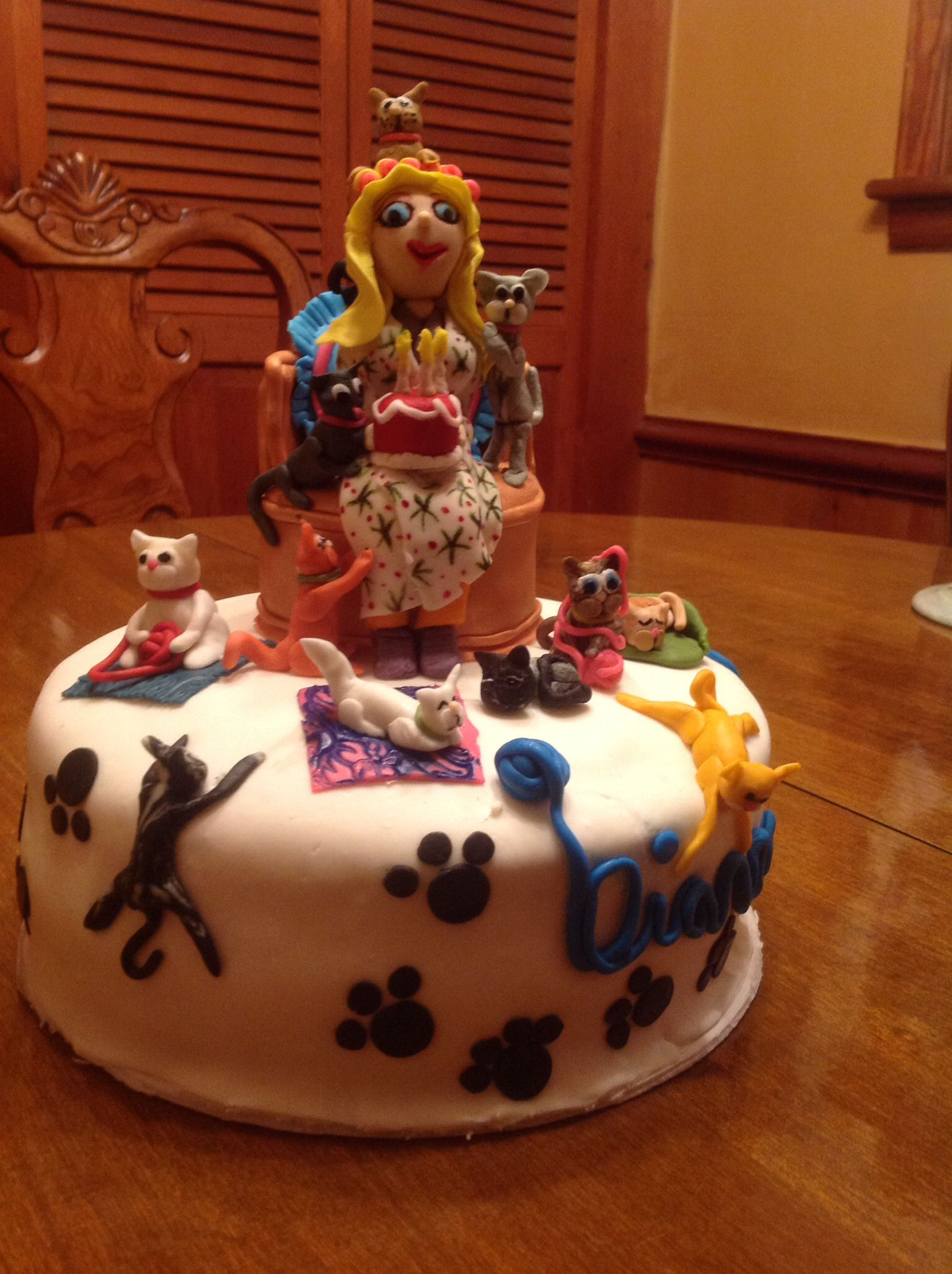 Crazy Cat Lady Birthday Cake Its A Hobby Cakes Pinterest