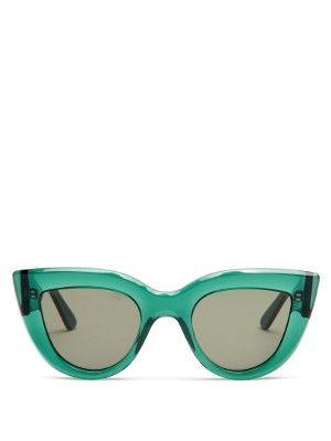 f2416f6c57f9 Celine CL 41050 EGZ Transparent Pink Cat Eye Sunglasses Grey Lens ...