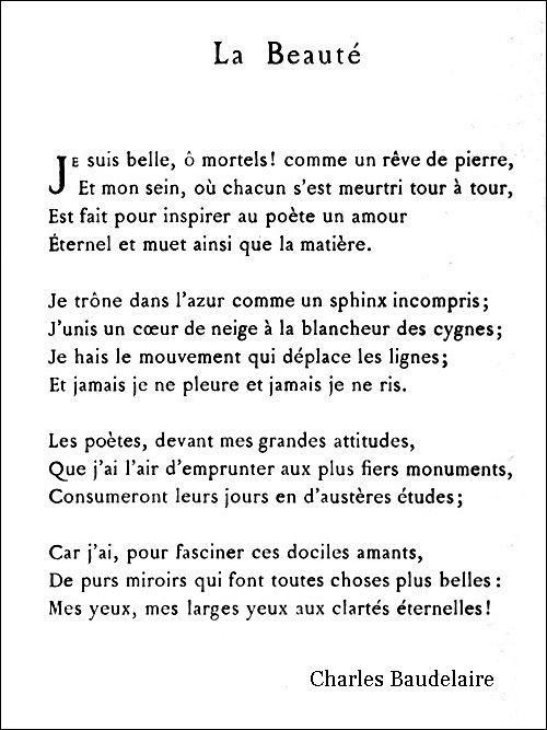La Beaute Poesie Francaise Poeme Francais Poeme Et Citation