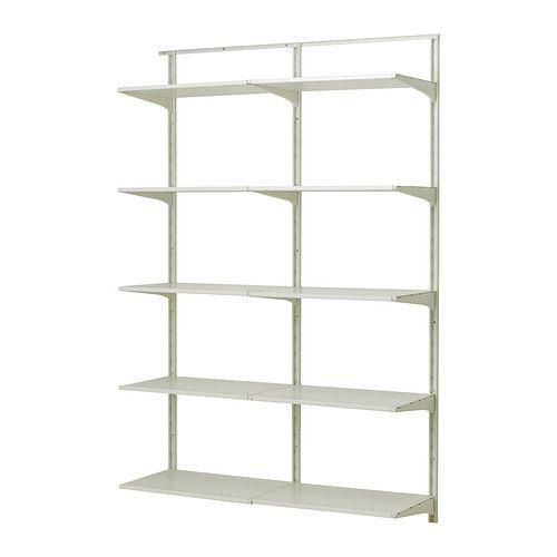 IKEA - ALGOT, Wandrail/planken, 132x40x196 cm, , De onderdelen van de ALGOT serie kunnen op diverse manieren worden gecombineerd en zijn daardoor eenvoudig aan te passen aan de behoefte en de ruimte.De consoles, planken en acccessoires hoef je alleen maar op hun plaats te klikken. Daardoor is het heel eenvoudig om je opbergoplossing te monteren, aan te passen en te veranderen.Geschikt voor gebruik in het hele huis, zelfs in vochtige ruimtes zoals de badkamer of op overdekte balkons.