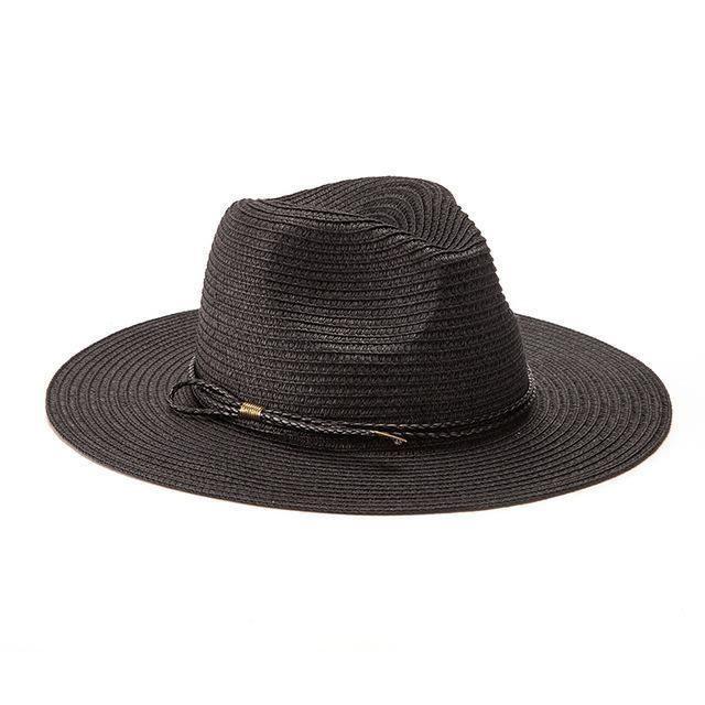80a5de9530740 Summer Beach Women Hat Brim Ladies Sun Hat Casual Panama Straw Hat Men Cap  Sun Visor Cap Male Sombrero Chapeau Femme
