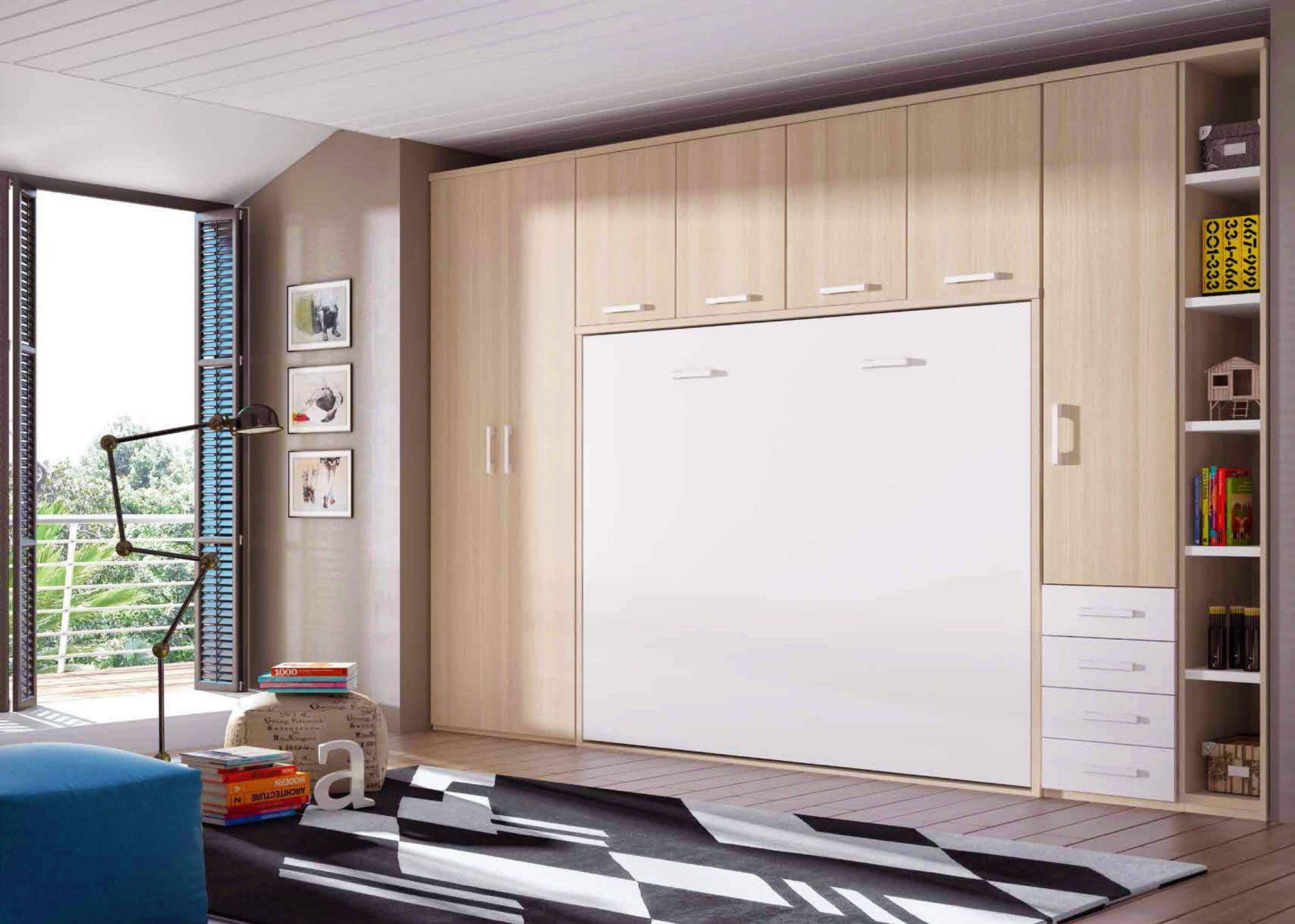 Placard Avec Lit Integre chambre avec lit armoire escamotable personnalisable f365