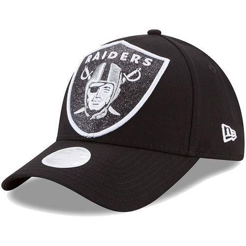 099d6f3b174 Era Oakland Raiders Women s Black Glitter Glam 9Forty Adjustable Hat - Nfl