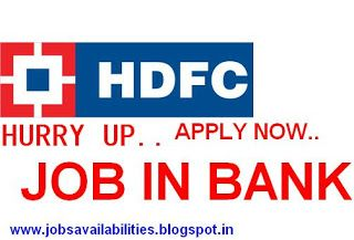 ALL TYPE JOBS IN INDIA: HDFC Bank Hiring | Graduate
