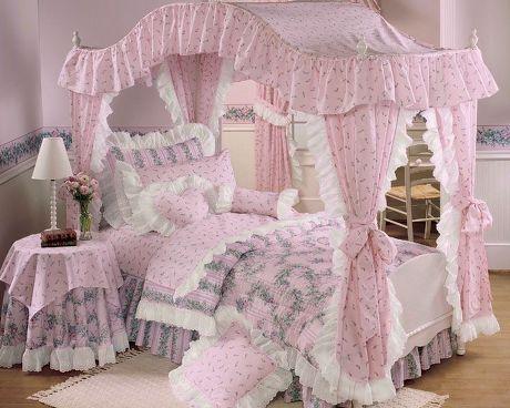 ベッドルーム(ピンク&白)【姫ルーム】bedroom White Amp Pink Princess Room