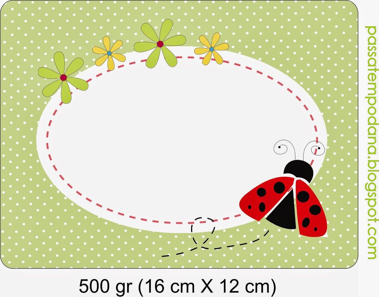 Sweet Ladybugs Free Printable Candy Bar Labels