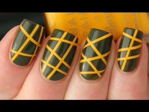Manicure with stripes: Design Ideas