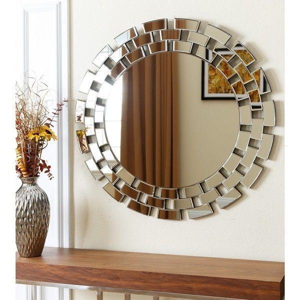 Round Wall Mirror Silver Decorative Hallway Bedroom Large Home Decor Large Spark Mirror Decor Mirror Decor Living Room Living Room Mirrors