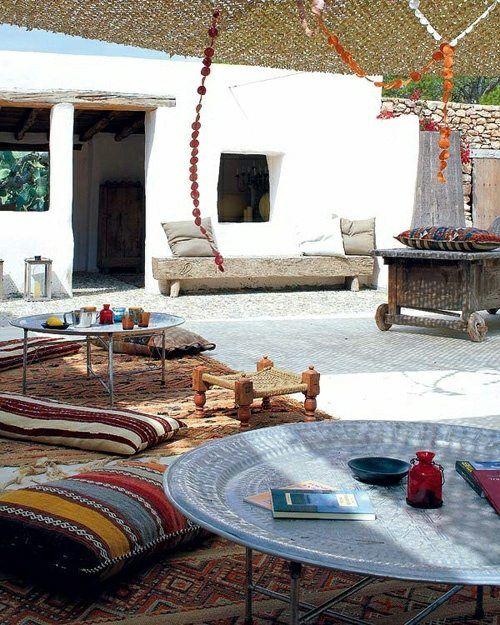 aménagement patio de style marocain | Terrasse | Style ...