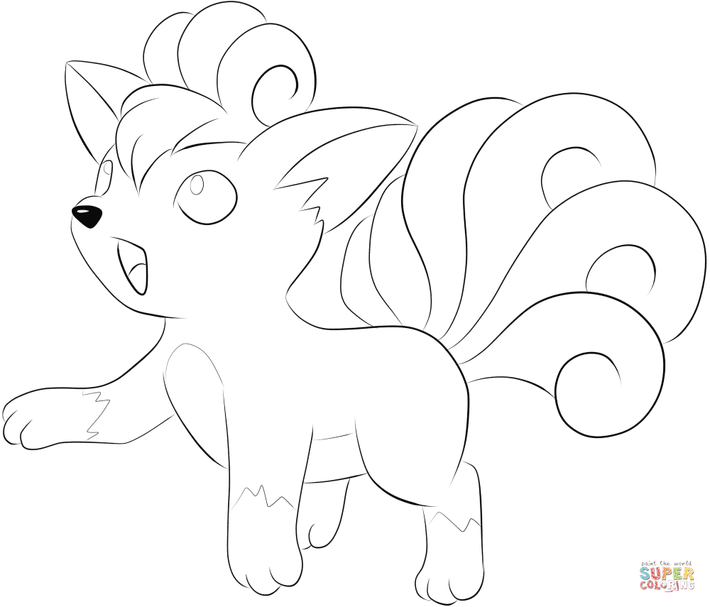 Vulpix Coloring Page Free Printable Coloring Pages Mandala Coloring Pages Horse Coloring Pages Pokemon Coloring Pages