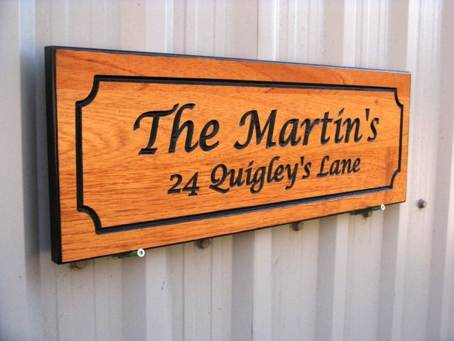Custom Carved Wooden Cottage Signs Make Unique Xmas Gifts