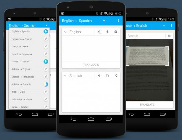 Offline translator for Android tablets and phones Phone