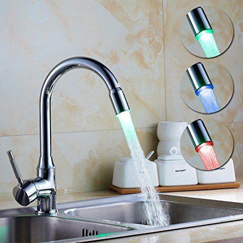 Bringt Farbe und gute Laune in die Küche Auralum® RGB #LED - wasserhahn für küche
