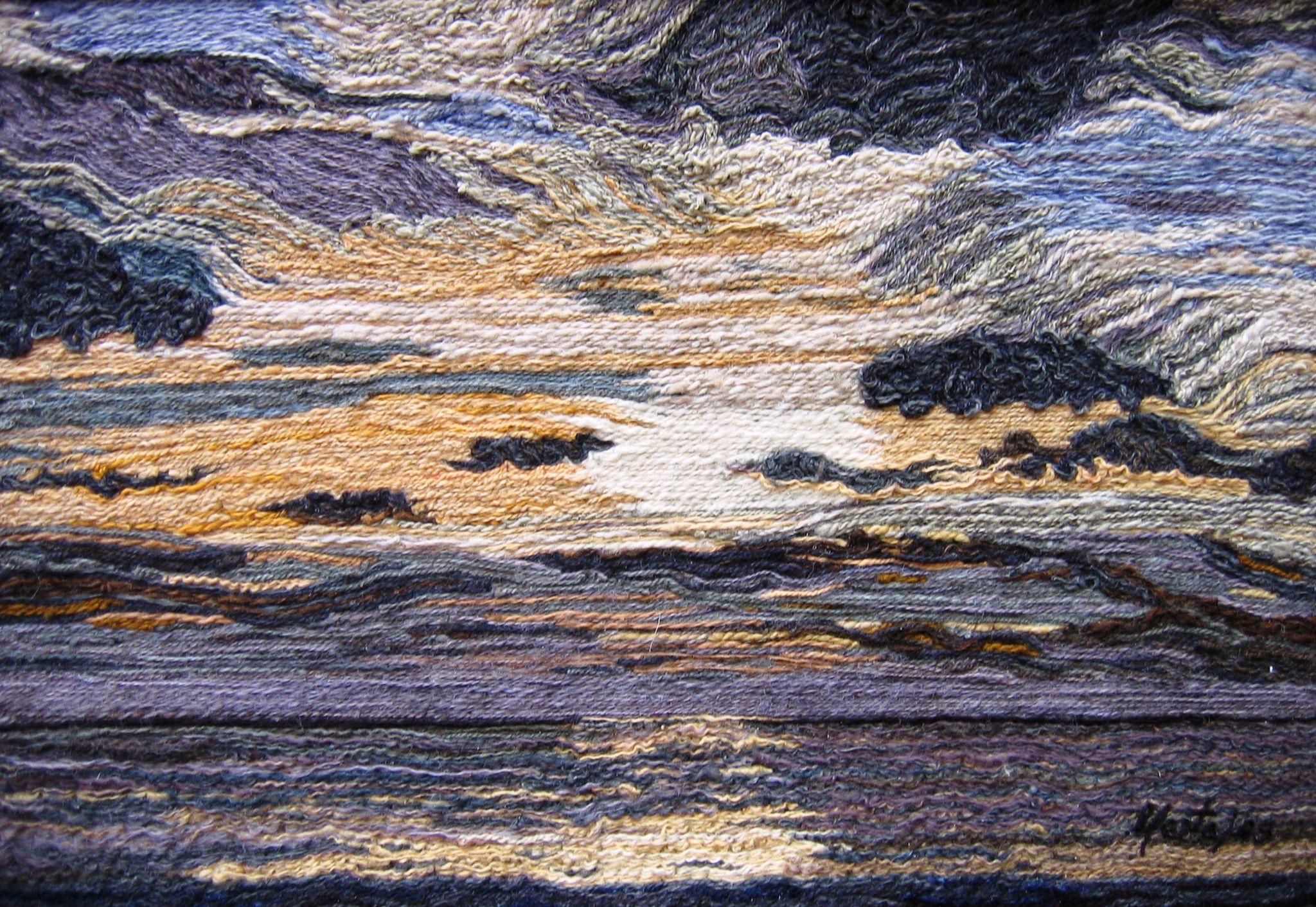 Cielo en Grises N. 2, Marta Alarcón, Collage en lana