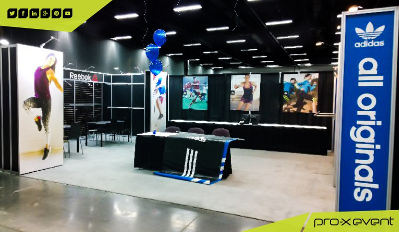 check out this years adidas Originals exhibit booth at