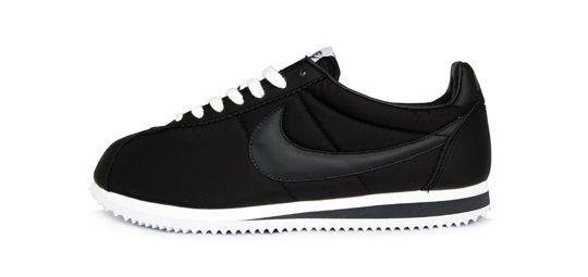 Black And Silver Nike Cortez