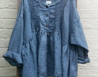 One left oversized linen shirt by MegbyDesign on Etsy