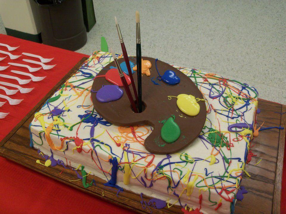 торт палитра с красками фото продукты