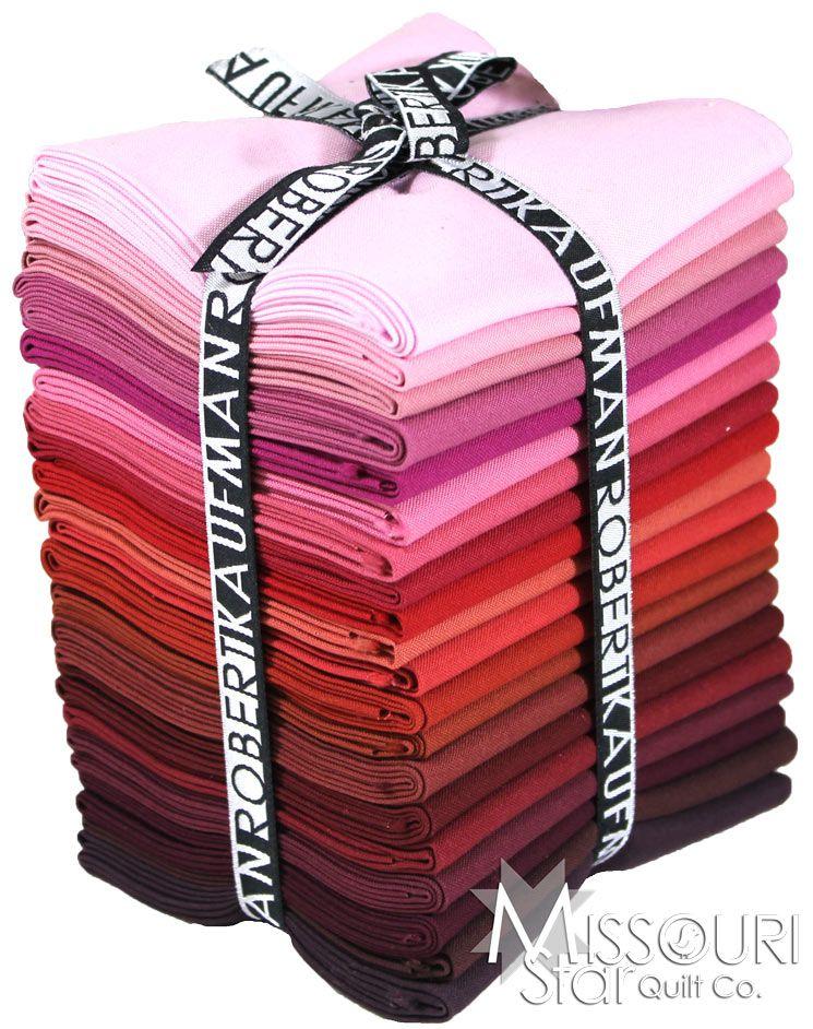 you get 1 fat quarter bundle w// 20 FQ Wine Cellar Colorstory Kaufman Kona