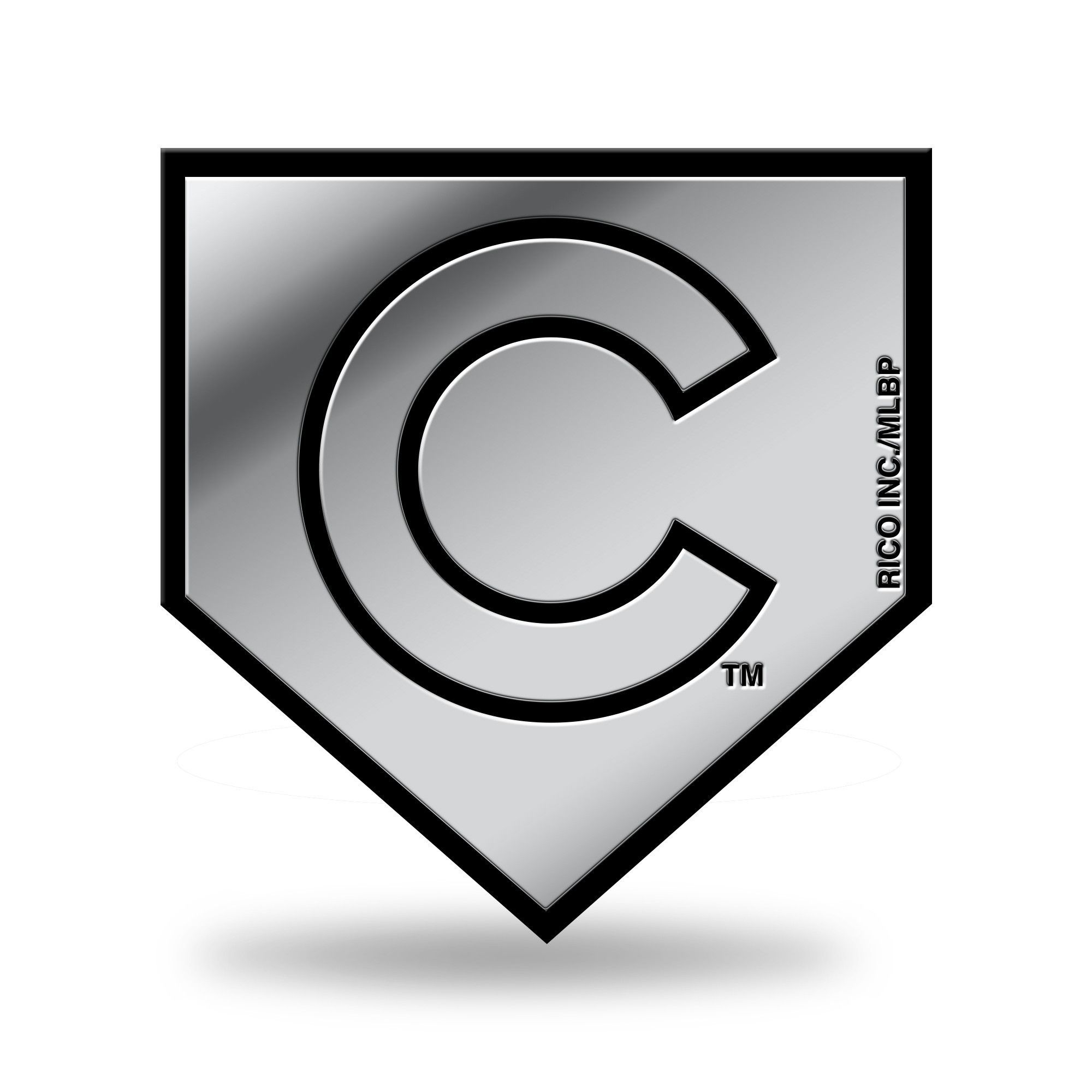 chicago cubs logo 3d home plate chrome decal sticker new truck car