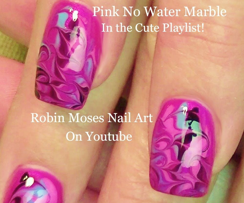 No Water Needed - DIY Marble nail art Tutorial | Nail Art Designs to ...