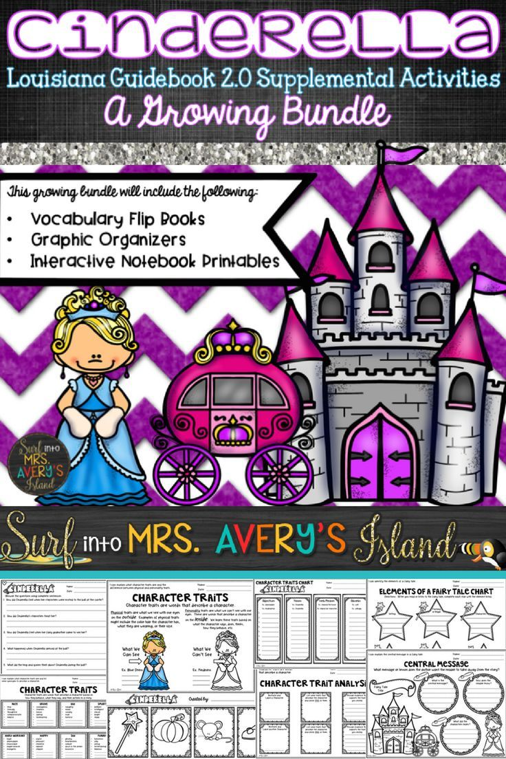 "Louisiana Guidebooks 2.0 are currently ""guiding"" 2nd grade teachers and their reading/ELA lesson plans. Click here if you are a 2nd grade reading teacher in Louisiana for a complete bundle of reading graphic organizers, interactive notebook activities, vocabulary flip books, etc. to accompany your Cinderella unit.... These activities will keep your students engaged as you teach the reading skills for this classic fairy tale."