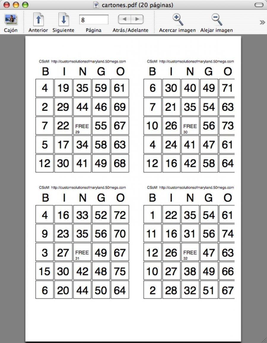 Bingo Caller Mac Free Bingo Cards Bingo Card Template Bingo Cards Printable