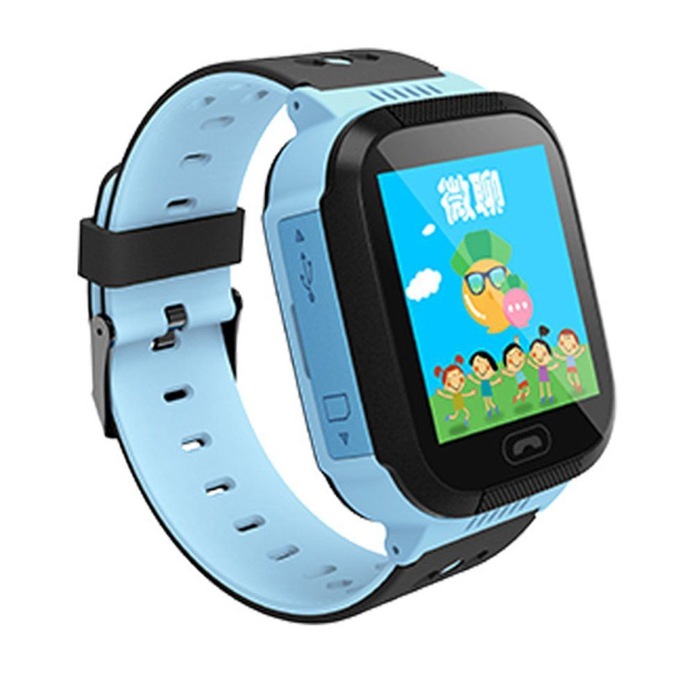 Q528 Kids Gps Tracker Watch Smart With Flash Light 144 Smartwatch Q50 For Sim Card Black Touch Screen Sos Call Location Finder Device Kid Safe Anti Lost Monitor