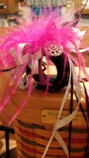 Hot pink and black wrist corsage 2014