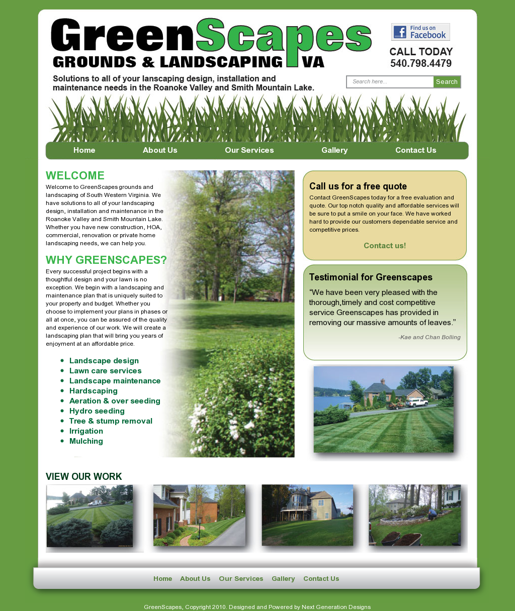 Landscaping lawn care lawn maintenance leaf removal aeration