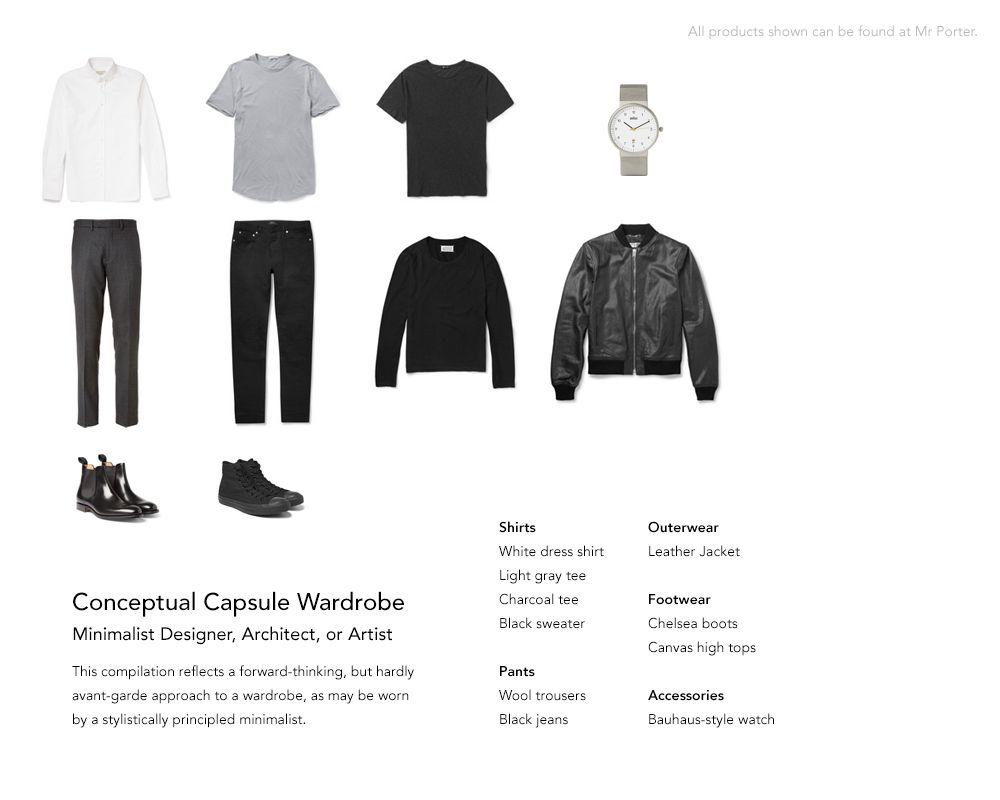 Minimalist Men S Wardrobe Minimalist Fashion Men Minimalist