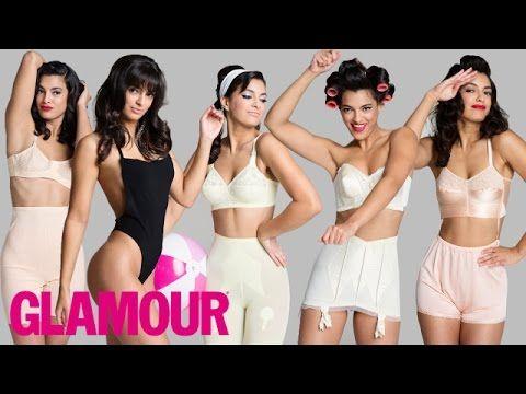100 Years of Women s Underwear l Beauty   Style l Glamour - YouTube ... e7eec8580